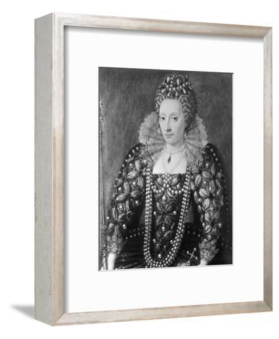 Decorative Painting of Queen Elizabeth I--Framed Art Print