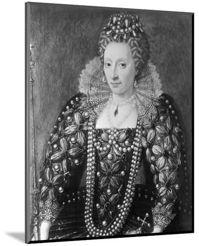 Decorative Painting of Queen Elizabeth I--Mounted Giclee Print