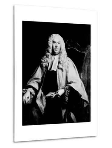 Portrait of Sir William Blackstone--Metal Print