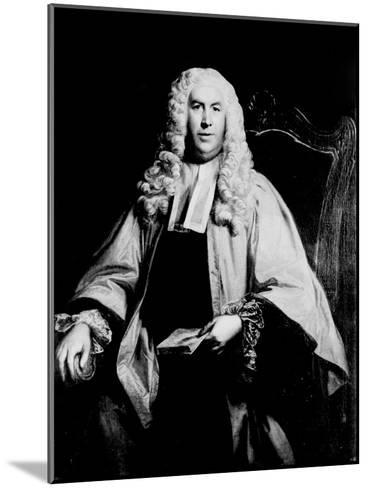Portrait of Sir William Blackstone--Mounted Giclee Print