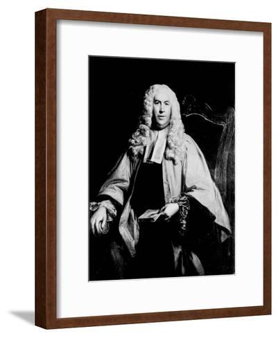 Portrait of Sir William Blackstone--Framed Art Print