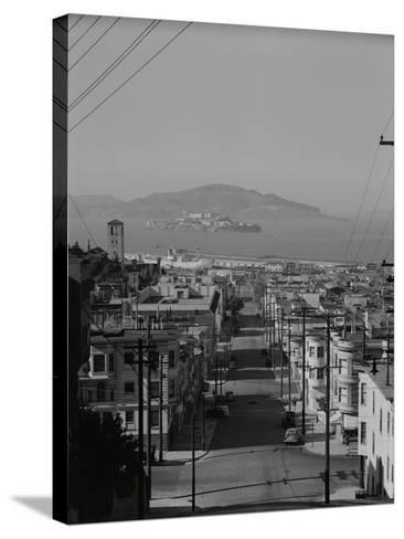 View of Alcatraz Island from Russian Hill-Philip Gendreau-Stretched Canvas Print