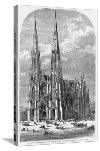 St. Patrick's Cathedral, Fifth Avenue, between Fiftieth and Fifty-First Streets, New York.--Stretched Canvas Print