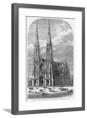 St. Patrick's Cathedral, Fifth Avenue, between Fiftieth and Fifty-First Streets, New York.--Framed Art Print