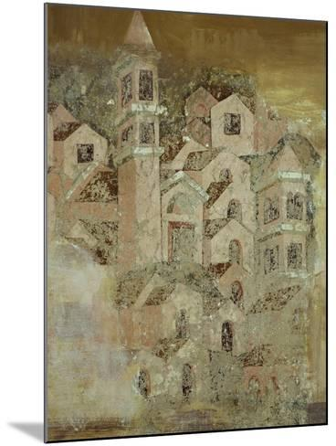 View of Medieval City of Ambulatory of Cosmatesque Cloister in Monastery of St Scholastica--Mounted Giclee Print