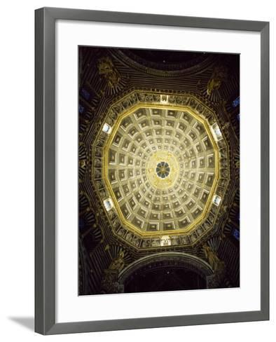 View of Dome, Cathedral of St Mary of Assumption, Siena, Tuscany, Italy, 12th-17th Century--Framed Art Print