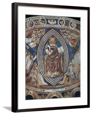 Christ with Angels and Saints--Framed Art Print
