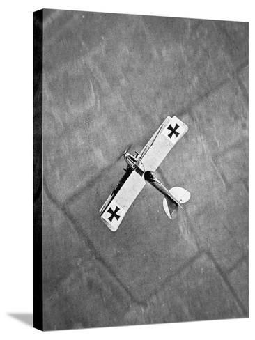 German Aviatik Type Aeroplane Photographed from a Belgian Aircraft over the Yser Front--Stretched Canvas Print