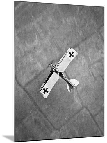German Aviatik Type Aeroplane Photographed from a Belgian Aircraft over the Yser Front--Mounted Photographic Print