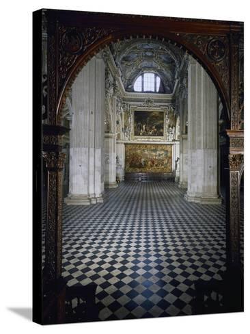 Central Aisle to High Altar of Santa Maria Maggiore Basilica, Bergamo, Italy, 12th-17th Centuries--Stretched Canvas Print