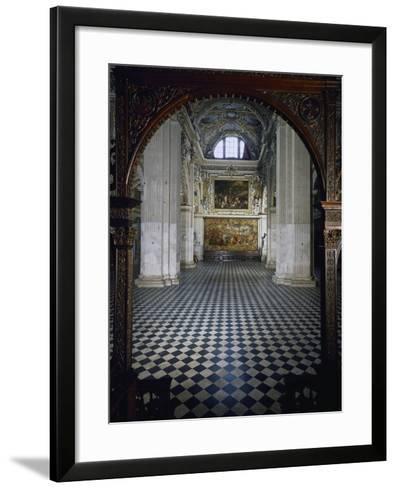 Central Aisle to High Altar of Santa Maria Maggiore Basilica, Bergamo, Italy, 12th-17th Centuries--Framed Art Print
