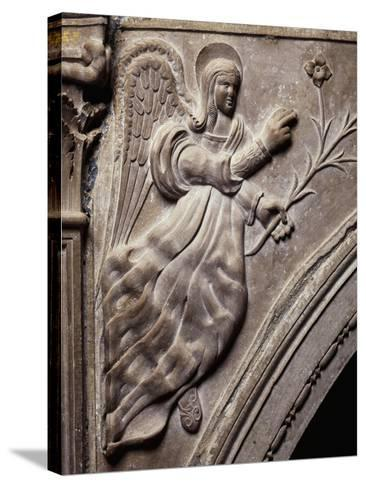 Angel, Detail of Larino Cathedral, Molise, Italy--Stretched Canvas Print