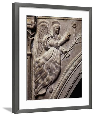 Angel, Detail of Larino Cathedral, Molise, Italy--Framed Art Print