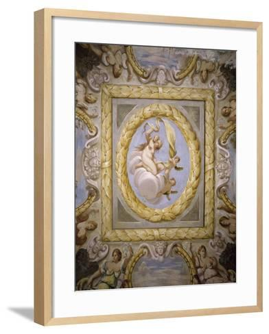 Fresco, Hall of Arts and Sciences, Villa Contarini, Piazzola Sul Brenta, Veneto, Italy--Framed Art Print