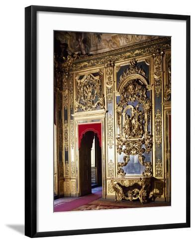 Detail of Decorations in Gallery of Portraits in Carignano Palace, Turin, Italy--Framed Art Print