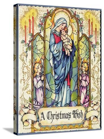 A Christmas Wish, Christmas Card, 1920s--Stretched Canvas Print