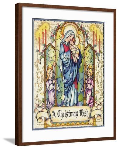 A Christmas Wish, Christmas Card, 1920s--Framed Art Print