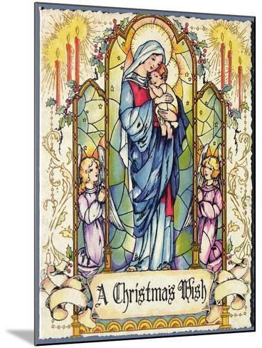 A Christmas Wish, Christmas Card, 1920s--Mounted Giclee Print