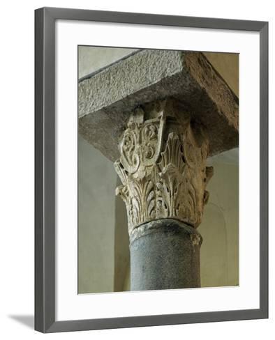 Capital of Column, Church of San Giovanni Mare, Gaeta, Lazio, Italy, 10th Century--Framed Art Print