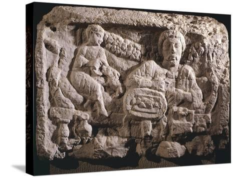 Relief Depicting Funeral Meal--Stretched Canvas Print