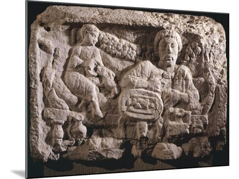 Relief Depicting Funeral Meal--Mounted Giclee Print