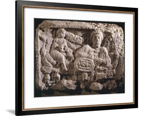 Relief Depicting Funeral Meal--Framed Art Print