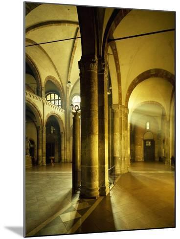 Italy, Milan, Basilica of Sant'Ambrogio, Interior of Left Nave--Mounted Giclee Print