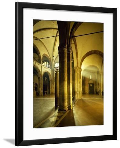 Italy, Milan, Basilica of Sant'Ambrogio, Interior of Left Nave--Framed Art Print