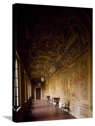 Italy, Emilia-Romagna, Rocca Meli-Lupi of Soragna, Gallery--Stretched Canvas Print