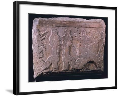 Relief Depicting Figures with Scepters, Artifact Originating from Tiahuanaco--Framed Art Print