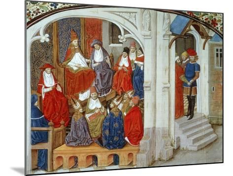 Pope Urban II Announcing First Crusade, 1095, Miniature Taken from This History of Crusades--Mounted Giclee Print