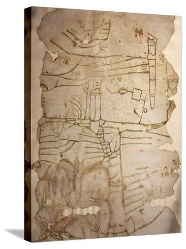Mappa Mundi, Created in England or France, Ink on Parchment, Circa 1191-1218--Stretched Canvas Print