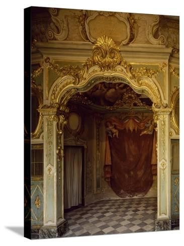 Detail of Decorations in Pope Pius VII Room, Palazzo Borea, Sanremo, Italy--Stretched Canvas Print