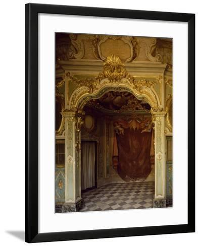 Detail of Decorations in Pope Pius VII Room, Palazzo Borea, Sanremo, Italy--Framed Art Print