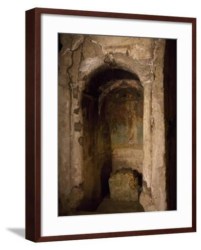 Aedicula of Saint Women, Where Confirmation Was Administered--Framed Art Print