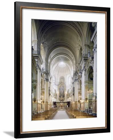 Interior of Church of Carmine in Turin, Built in 1732-1736--Framed Art Print