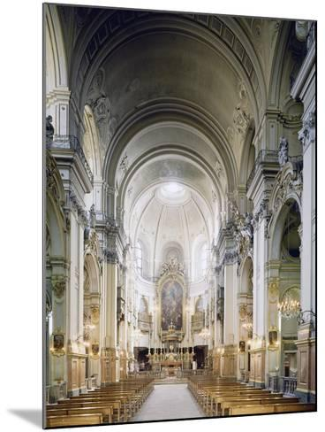 Interior of Church of Carmine in Turin, Built in 1732-1736--Mounted Giclee Print