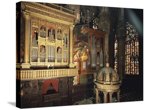 Organ from Presbytery, Milan Cathedral, Italy, 16th Century--Stretched Canvas Print
