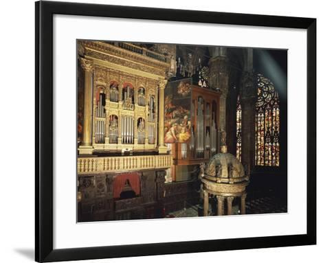 Organ from Presbytery, Milan Cathedral, Italy, 16th Century--Framed Art Print