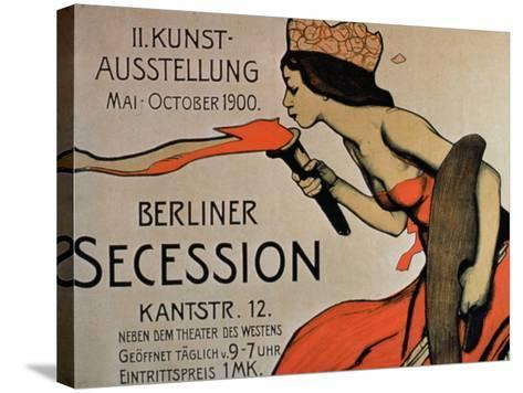 Berlin Secession', Poster for the Exhibition from May-October 1900--Stretched Canvas Print
