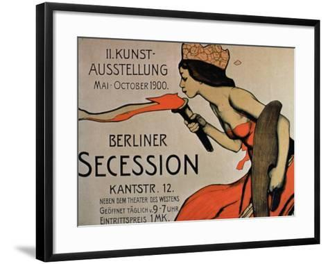 Berlin Secession', Poster for the Exhibition from May-October 1900--Framed Art Print