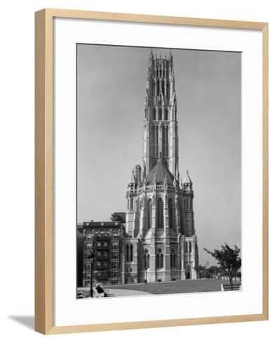 Riverside Drive at 122nd Street, 1930--Framed Art Print