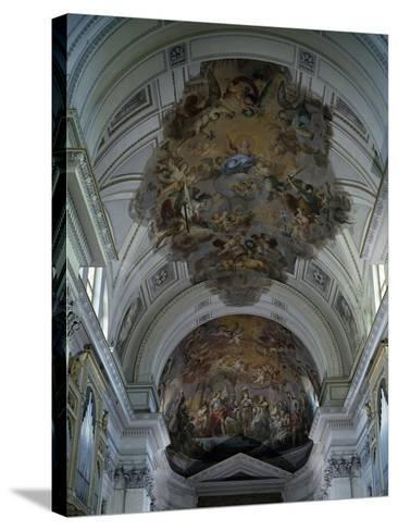 Central Nave Frescoed Vault, Palermo Cathedral, Sicily, Italy--Stretched Canvas Print