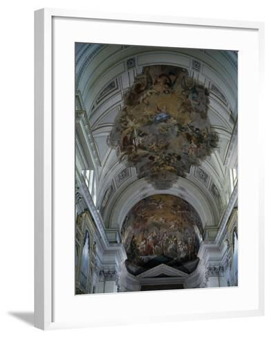 Central Nave Frescoed Vault, Palermo Cathedral, Sicily, Italy--Framed Art Print