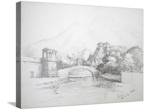 Glimpse of Loano, April 1859, Italy--Stretched Canvas Print