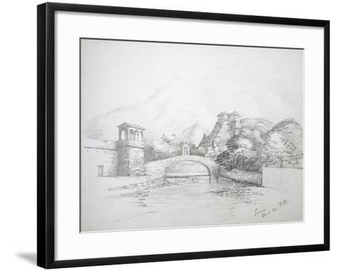 Glimpse of Loano, April 1859, Italy--Framed Art Print