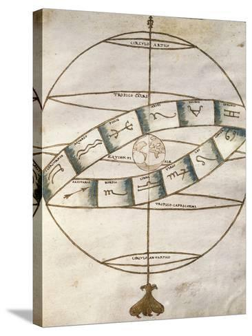 Zodiacal Signs, from Portolan Chart--Stretched Canvas Print