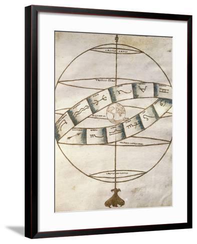 Zodiacal Signs, from Portolan Chart--Framed Art Print