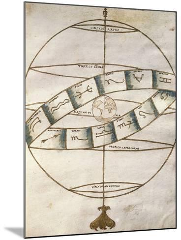 Zodiacal Signs, from Portolan Chart--Mounted Photographic Print