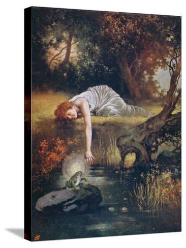The Frog Prince with the Princess, Early 20th Century--Stretched Canvas Print